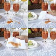 Toalha de Mesa Fácil de Limpar Retangular 10-12 Lugares 160x320cm - Romy Rosa Velho - Dui Design