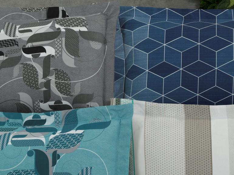 Fronha Avulsa 180 fios 100% Algodão - Geométrico - Dui Design