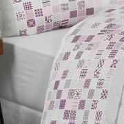 Jogo de Cama Solteiro 150 fios - Acorde Rosa - Dui Design