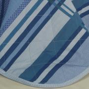 Enxoval King com Cobre-leito 7 peças Percal 200 fios - Adonis Azul - Dui Design