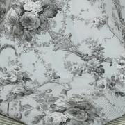 Enxoval King com Edredom 5 peças Percal 180 fios - Adore Cinza - Dui Design