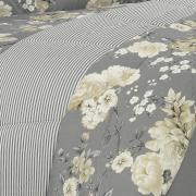 Enxoval Solteiro com Edredom 4 peças 150 fios - Agda Preto e Branco - Dui Design