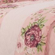 Enxoval Casal com Cobre-leito 7 peças 150 fios - Agda Rosa Velho - Dui Design