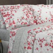 Kit: 1 Cobre-leito Casal + 2 Porta-travesseiros 150 fios - Aika Cinza - Dui Design