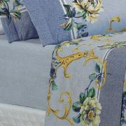 Jogo de Cama Casal 150 fios - Aisha Azul - Dui Design
