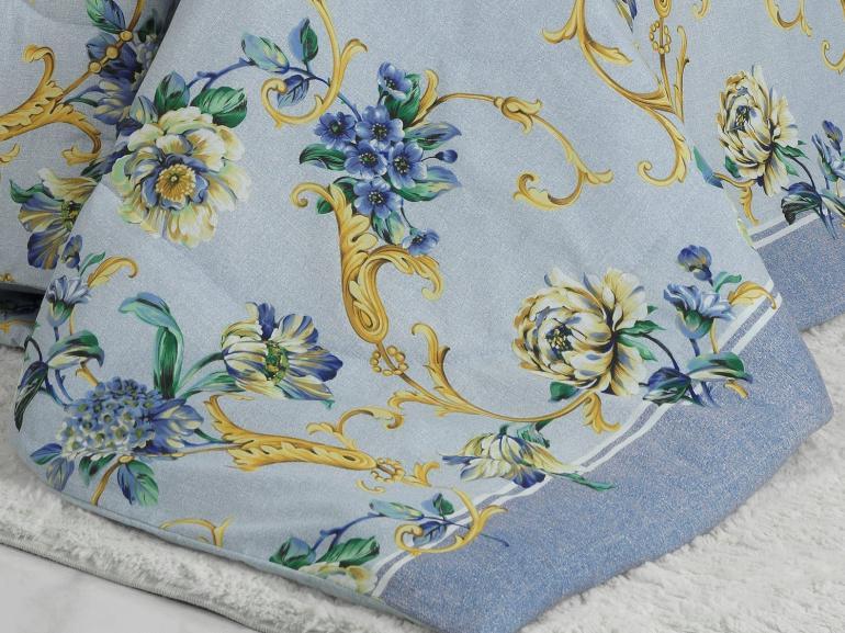 Edredom Casal 150 fios - Aisha Azul - Dui Design