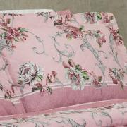 Kit: 1 Cobre-leito King + 2 Porta-travesseiros 150 fios - Aisha Rosa - Dui Design