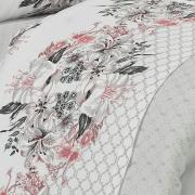 Jogo de Cama Casal 150 fios - Alanis Cinza - Dui Design