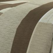 Edredom Solteiro 150 fios - Alex Taupe - Dui Design