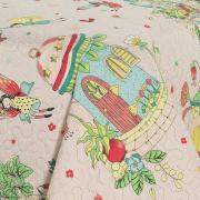 Kit: 1 Cobre-leito Casal Kids Bouti de Microfibra PatchWork Ultrasonic + 2 Porta-travesseiros - Alice Rosa - Dui Design