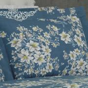 Jogo de Cama Queen Percal 180 fios - Alison Azul - Dui Design