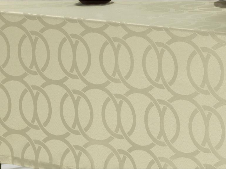 Toalha de Mesa Fácil de Limpar Retangular 6 Lugares 160x220cm - Alliance Bege - Dui Design