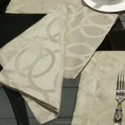 Kit: 4 Guardanapos 50x50cm - Alliance Bege - Dui Design
