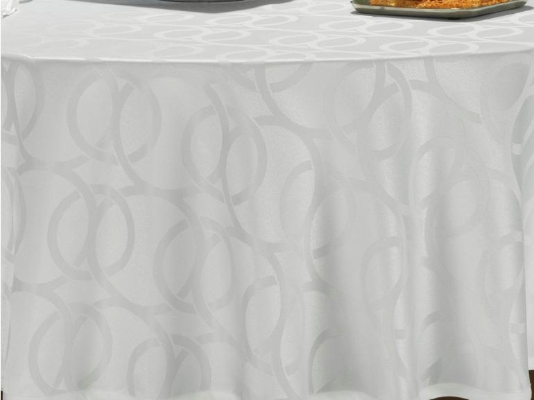 Toalha de Mesa Fácil de Limpar Redonda 220cm - Alliance Branco - Dui Design