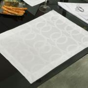 Jogo Americano 4 Lugares (4 peças) Fácil de Limpar 35x50cm - Alliance Branco Off White - Dui Design
