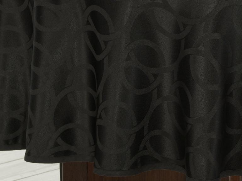 Toalha de Mesa Fácil de Limpar Redonda 220cm - Alliance Preto - Dui Design