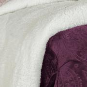 Edredom Casal Pele de Carneiro e Plush - Sherpa Allure Ameixa - Dui Design