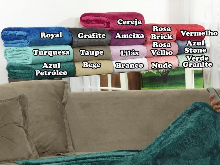 Manta com Mangas de Sofá Flanelada 265 gramas/m² - Allure - Dui Design