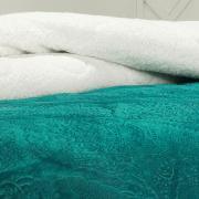 Edredom Solteiro Pele de Carneiro e Plush - Sherpa Allure Azul Porto - Dui Design