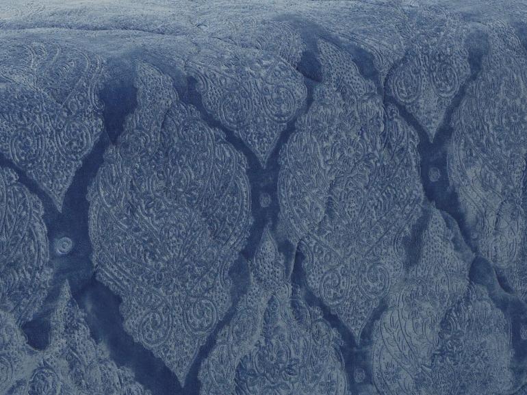 Edredom Solteiro Pele de Carneiro e Plush - Sherpa Allure Azul Stone - Dui Design