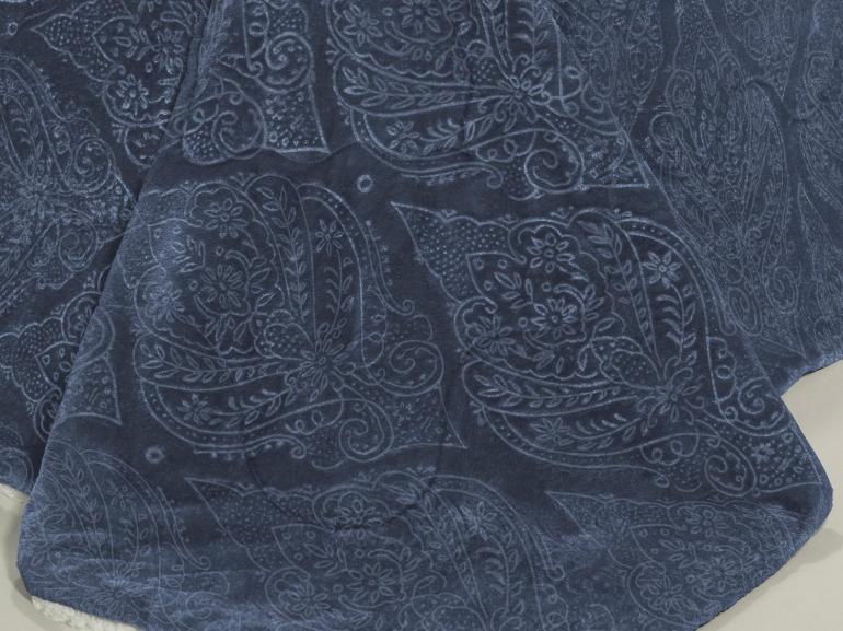Edredom King Pele de Carneiro e Plush - Sherpa Allure Azul Stone - Dui Design