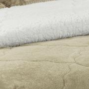 Edredom King Pele de Carneiro e Plush - Sherpa Allure Bege - Dui Design