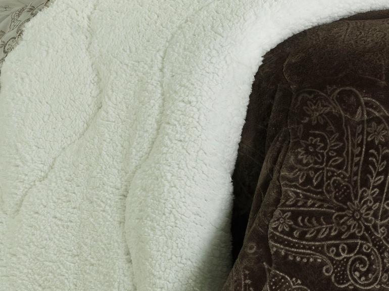 Edredom King Pele de Carneiro e Plush - Sherpa Allure Café - Dui Design