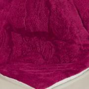 Edredom Queen Pele de Carneiro e Plush - Sherpa Allure Cereja - Dui Design