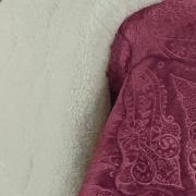 Edredom Solteiro Pele de Carneiro e Plush - Sherpa Allure Cereja - Dui Design
