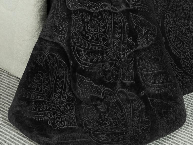 Edredom Solteiro Pele de Carneiro e Plush - Sherpa Allure Preto - Dui Design