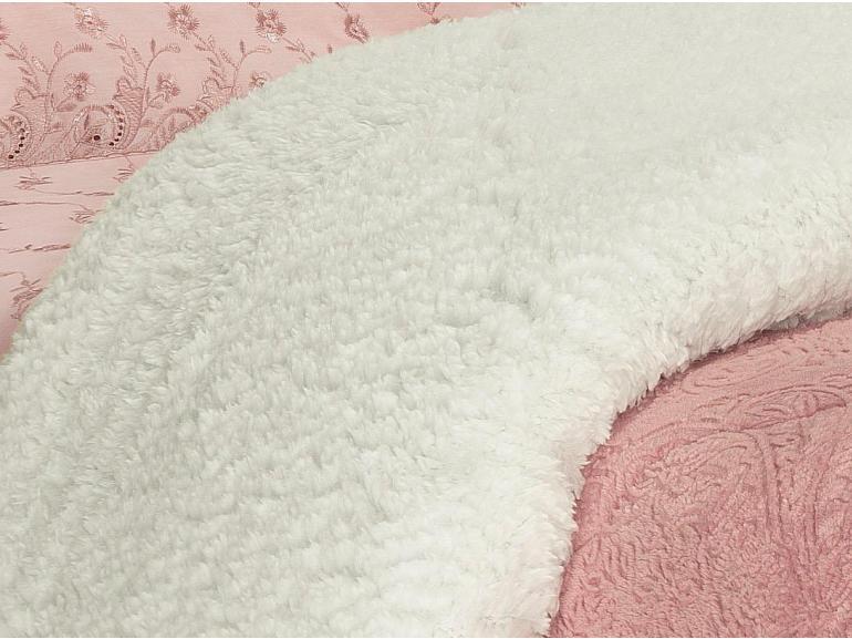 Edredom Casal Pele de Carneiro e Plush - Sherpa Allure Rosa Velho - Dui Design