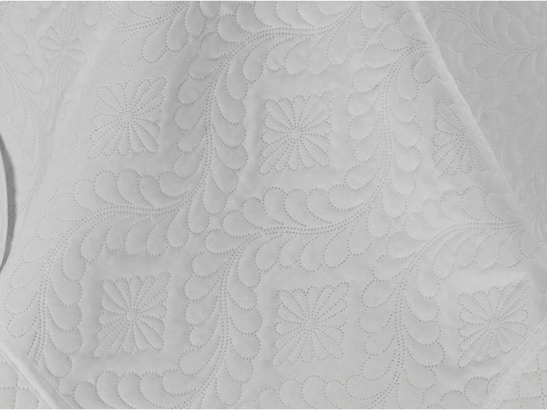 Kit: 1 Cobre-leito Casal Bouti de Microfibra Ultrasonic + 2 Porta-travesseiros - Alma Branco - Dui Design