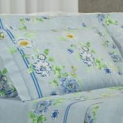 Jogo de Cama Queen Percal 200 fios - Amai Azul - Dui Design