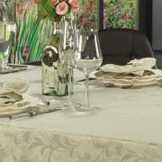 Toalha de Mesa Fácil de Limpar Retangular 6 Lugares 160x220cm - Amalfi Bege - Dui Design