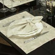 Jogo Americano 4 Lugares (4 peças) Fácil de Limpar 35x50cm - Amalfi Bege - Dui Design