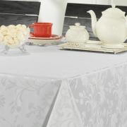 Toalha de Mesa Fácil de Limpar Retangular 8 Lugares 160x270cm - Amalfi Branco - Dui Design