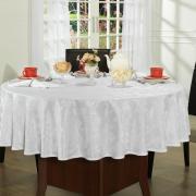 Toalha de Mesa Fácil de Limpar Redonda 220cm - Amalfi Branco - Dui Design