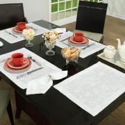 Jogo Americano 4 Lugares (4 peças) Fácil de Limpar 35x50cm - Amalfi Branco - Dui Design