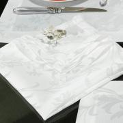 Kit: 4 Guardanapos 50x50cm - Amalfi Branco - Dui Design