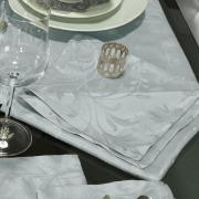 Kit: 4 Guardanapos 50x50cm - Amalfi Cinza - Dui Design
