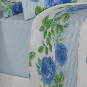 Jogo de Cama Queen Percal 200 fios - Amandy Porcelana - Dui Design