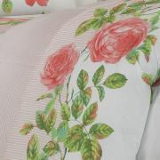 Jogo de Cama Queen Percal 200 fios - Amandy Rosa - Dui Design