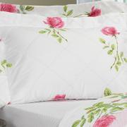 Kit: 1 Cobre-leito Solteiro + 1 Porta-travesseiro Percal 200 fios - Amandy Rosa - Dui Design