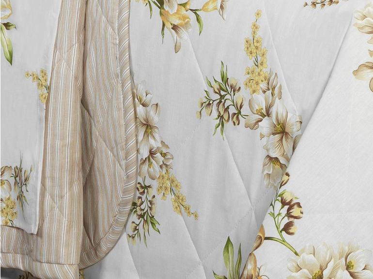 Kit: 1 Cobre-leito Solteiro + 1 Porta-travesseiro 150 fios - Ana Bege - Dui Design