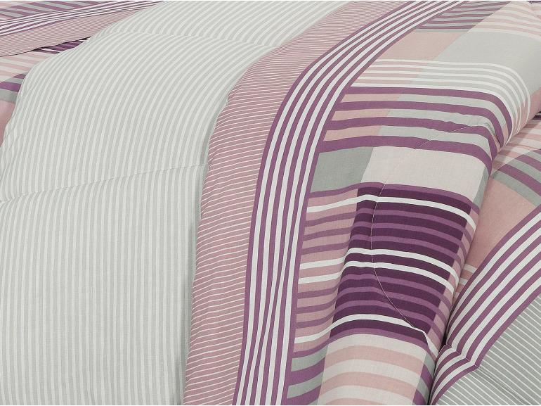 Edredom Casal 150 fios - Anacapri Albergine - Dui Design