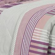 Kit: 1 Cobre-leito King + 2 Porta-travesseiros 150 fios - Anacapri Albergine - Dui Design