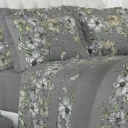 Jogo de Cama Queen Percal 180 fios - Andreia Cinza - Dui Design