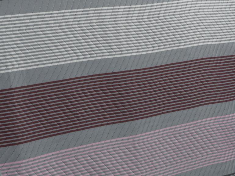 Kit: 1 Cobre-leito Queen Bouti de Microfibra Ultrasonic Estampada + 2 Porta-travesseiros - Andros Cinza - Dui Design