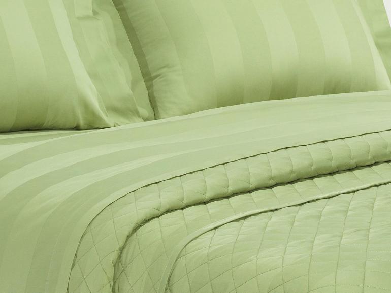 Jogo de Cama Solteiro Cetim 300 fios - Andros Sage - Dui Design