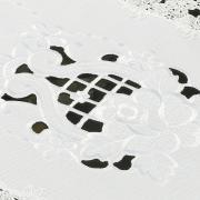 Trilho de Mesa com Bordado Richelieu 40x85cm Avulso - Angelina Branco - Dui Design